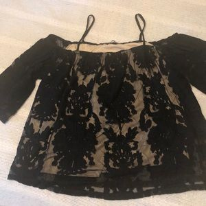 Charlotte Russe off the shoulder lace top